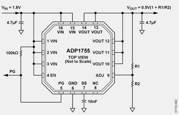 2 a,低输入电压,可调输出电压ldo线性稳压